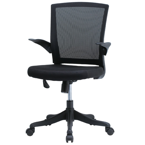 【送料無料】オフィスチェア メッシュチェア パソコンチェア 椅子 メッシュチェアー おしゃれ ブラック 肘付き デスクチェア メッシュ チェア 事務椅子 オフィス家具 FEM-14A [法人専用商品]