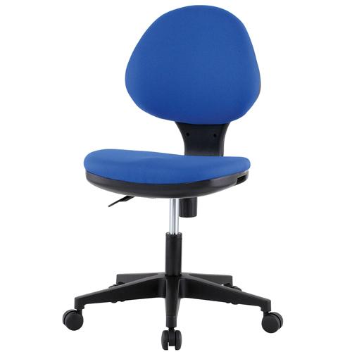 チェア キャスター付 布張り 3色 ブラック グレー ブルー 回転イス オフィスチェア 事務用椅子 オフィス家具 GY-129 [法人専用商品]