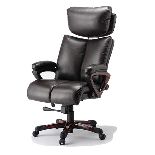 エグゼクティブチェア 社長椅子 オフィスチェア ハイバックチェア 肉厚 クッション 高級 レザー おしゃれ 肘付き ロッキング VHE-33P